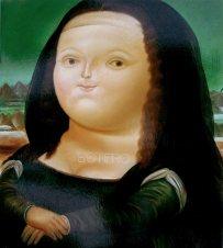 """""""Mona Lisa"""" de Fernando Botero"""